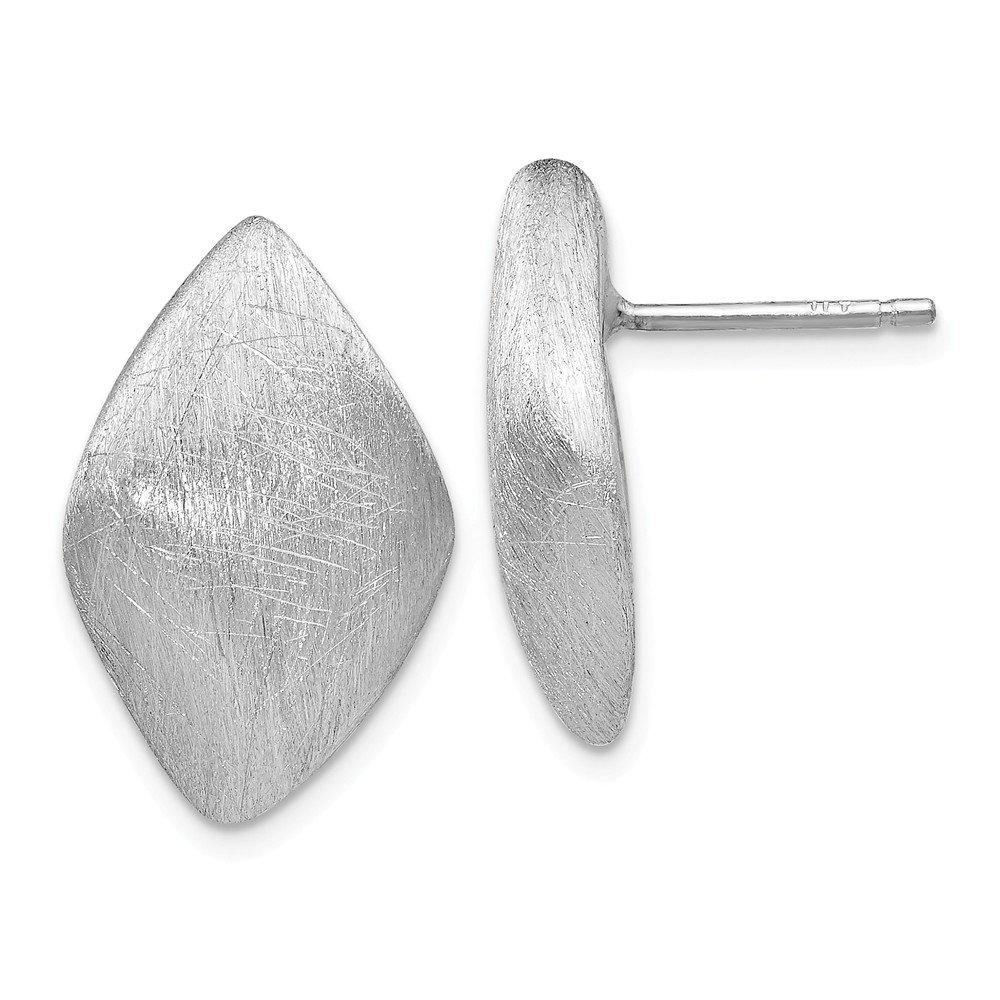 Leslie's Sterling Silver Scratch Finish Post Earrings