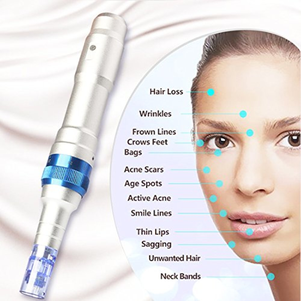 Dr. Pen Ultima A6 Rechargeable Therapy Professional System & Dr Pen A6 Accessories - for Scars, Acne, Wrinkles, Spot Removal, Hydrating, Whitening (2 Batteries+10PCS Cartridges) by Dr. Pen (Image #3)