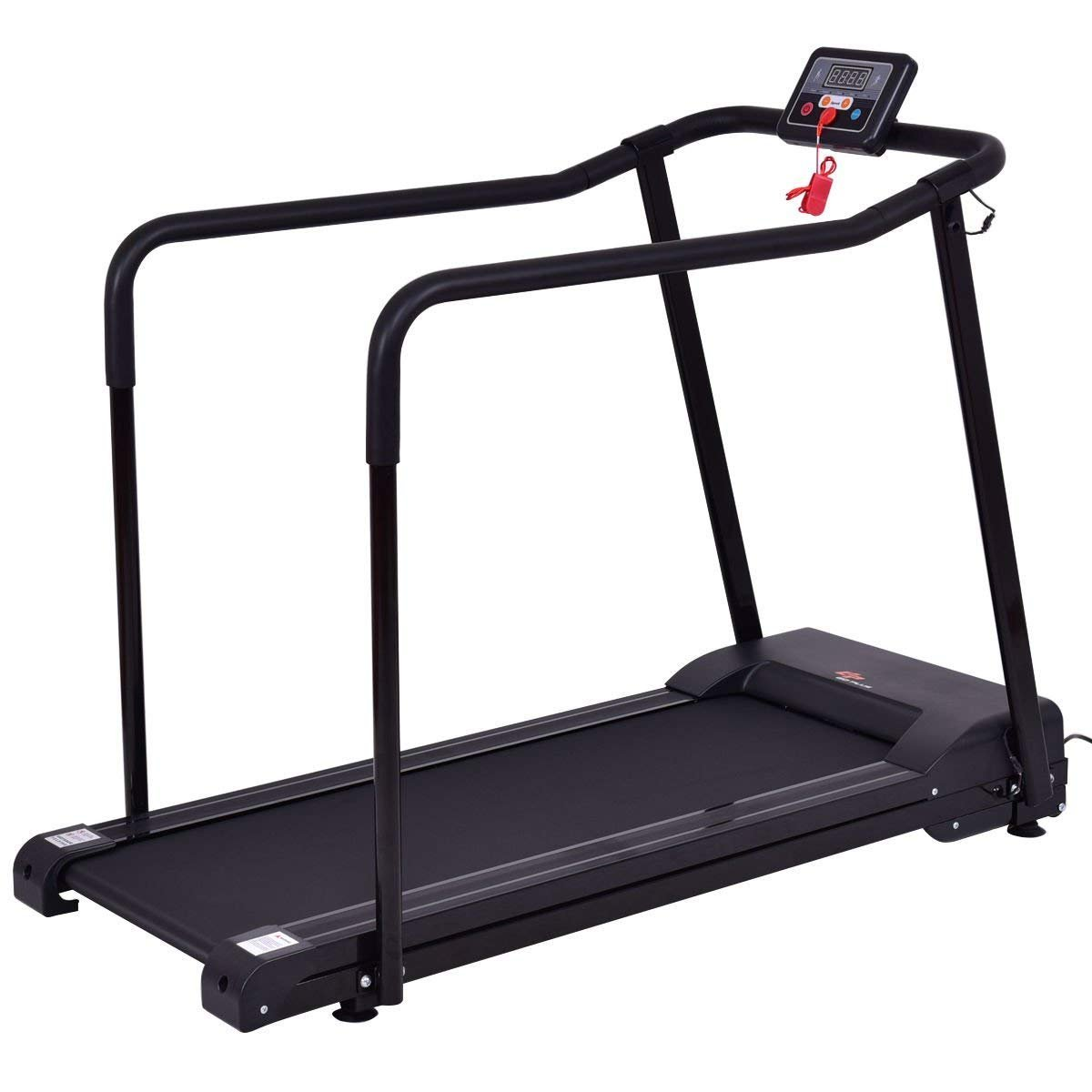 Goplus Electric Treadmill Jogging Walking Machine for Seniors Elders W/Extra-Long Handles