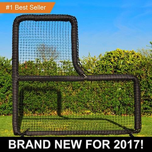 FORTRESS 7' x 7' L Screen Frame & Net [Nimitz Edition] - Baseball Softball Pitching Screen by Fortress