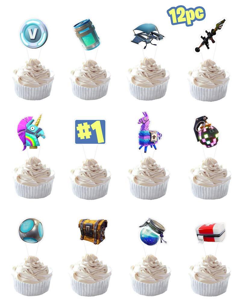 Party Hive 12 piezas para decoración de cupcakes de juegos para ...