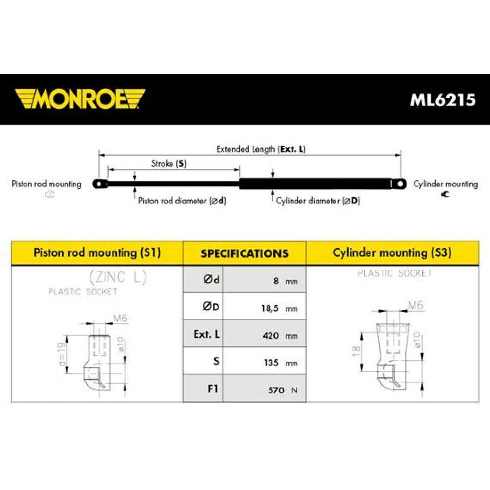 Monroe ML6215 Cap/ós para Autom/óviles