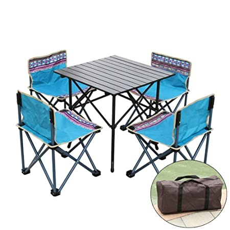 Tavoli E Sedie Da Giardino In Ferro.Rsummer Tavolo Pieghevole E Sedie Da Esterno Balcone Tavolino Da