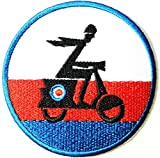 Vespa Lambretta Scooter Logo Sign Biker Racing Patch Iron on Applique Embroidered T shirt Jacket BY SURAPAN