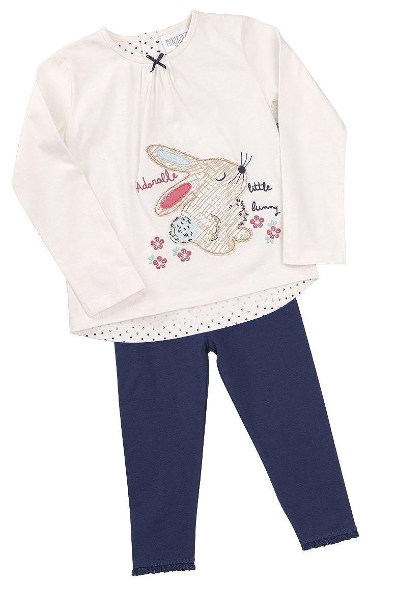 Minikidz Kidz Girls Woodland Bunny Long Sleeve Top & Leggings Set
