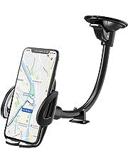 IZUKU Supporto Auto Smartphone con ventosa [Collo Alluminio] Porta Cellulare Auto per telefoni iPhoneX/8/7/6, Samsung S9/8/7,Xiaomi,Huawei Honor e GPS Dispositivi