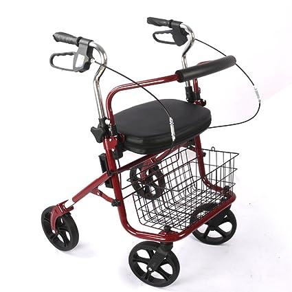 Andador Anciano | Aluminio Ultraligero | Plegable | Fácil De Usar Y Transportar | 2 Ruedas
