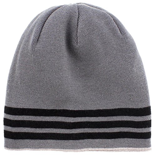 adidas Men's Eclipse Reversible Beanie, One Size, Black/Onix/Grey
