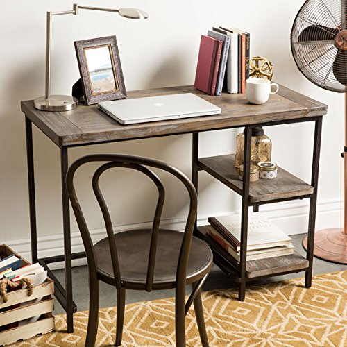 Renate Distressed Grey Slim Writing Desk by I Love Living