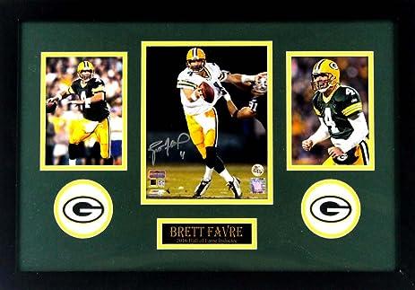 Brett Favre Autographedsigned Green Bay Packers Framed 8x10 Nfl