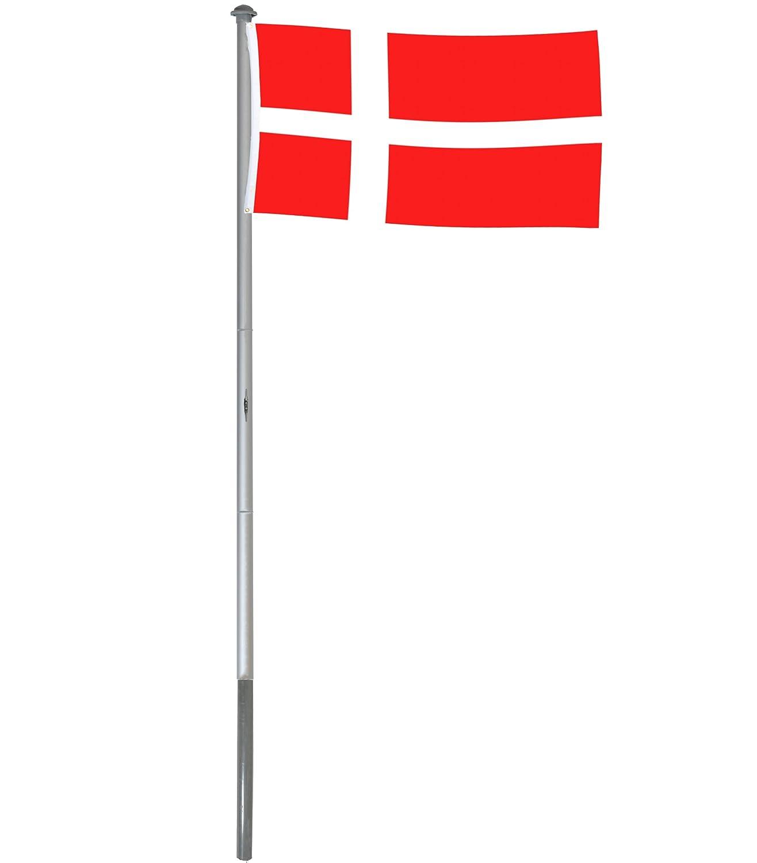 Brubaker Mástil Aluminio Exterior 4 m Incluye Bandera de Dinamarca 150 x 90 cm y Soporte de Tierra: Amazon.es: Jardín