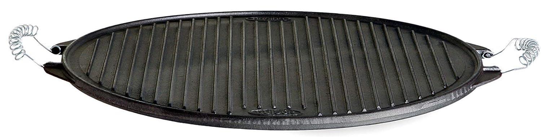 Ferro griglia Luce Targa, Nero, Ø 42 cm Paella World International gettato