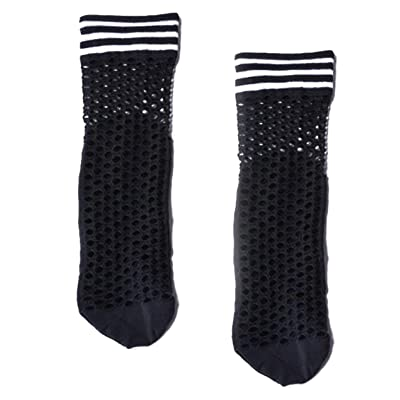 1Pair Womens Fashion Stripe Socks, One size (black and white stripe) at Amazon Women's Clothing store