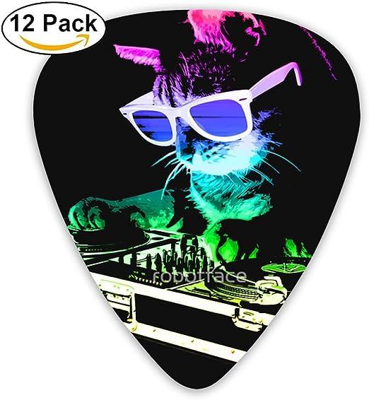 Pack de 12 púas de guitarra coloridas y elegantes para gato y dj ...