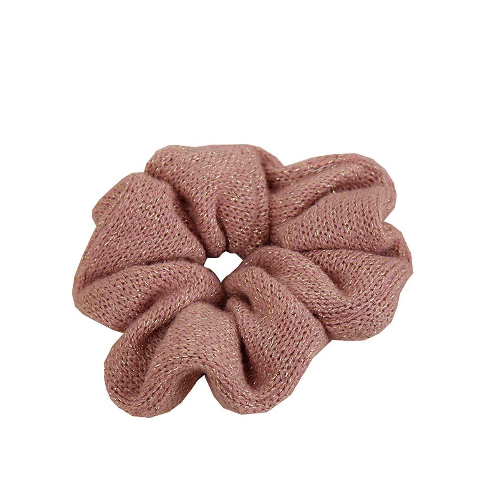 DA2S Hair Ties For Girls Scrunchies Women Elastic Pink