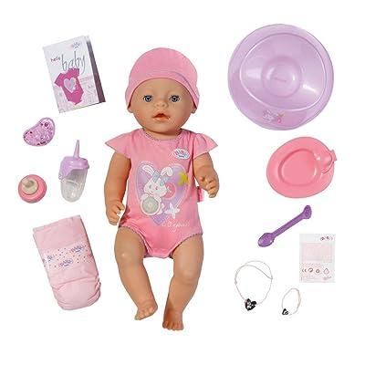 Baby Born- Interactive Muñeca Bebe, Color Rosa (Zapf 10 Accesorios): Juguetes y juegos