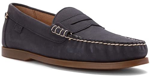 Ralph Lauren - Náuticos de Piel Vuelta para Hombre Azul Azul Marino, Color Azul, Talla 45 EU: Amazon.es: Zapatos y complementos