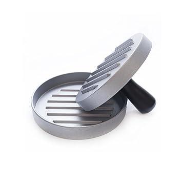 Foonii - Molde para hacer hamburguesas caseras con recubrimiento antiadherente, ideal para comida y barbacoa