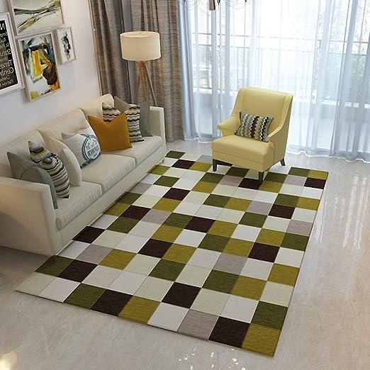 KWQ Alfombra Nordic Carpet geométrica, Moderna, para salón ...