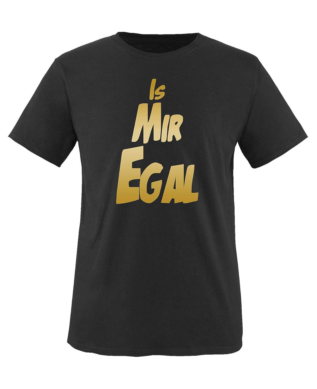 Rundhals Comedy Shirts is Mir egal V1 Jungen T-Shirt Top Basic Print-Shirt 100/% Baumwolle