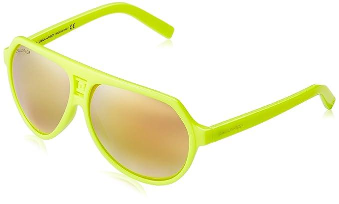 DSQUARED2 Sonnenbrille DQ0093 41L 60 Gafas de sol, Amarillo (Gelb), 60.0 Unisex Adulto