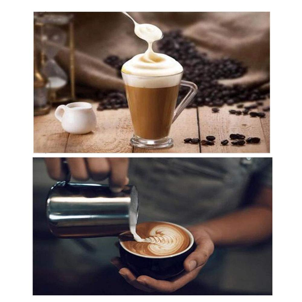 W&Z Espumador de Leche eléctrico USB Handheld Espuma Recargable Fabricante de Capuchinos Lattes café a Prueba de Balas de Chocolate Caliente Huevo batido ...