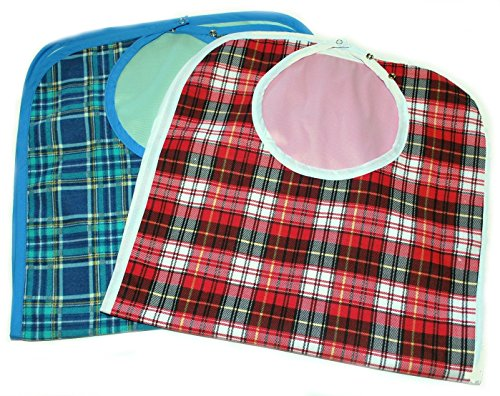 Large Extra Long, Washable Clothing Spill, Mealtime Protector, Waterproof Ladies & Men Adult Sized Bib - Clothing Stores Bh
