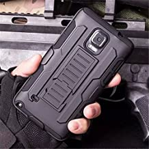 Galaxy Note 3 Case,Stanlance Swivel Belt Clip Holster Shell Cover with Kickstand [MILITARY GRADE] Heavy Duty Sturdy Rubber Armor Case for Samsung Galaxy Note 3