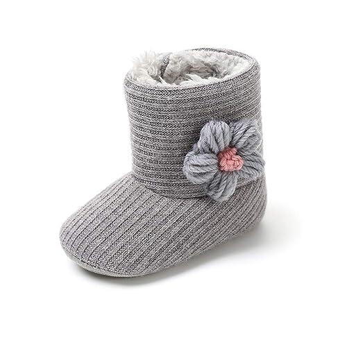 Botas de Ganchillo Lana Bebé Invierno Soft Sole Crib Caliente Patucos de  Niñas Algodón con Flor  Amazon.es  Zapatos y complementos 6093bb7b06ce