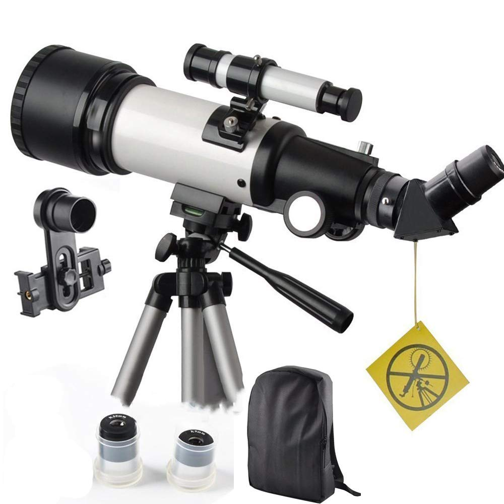Telescope 70400 Refractor Scope for Kids and Beginners-70mm Aperture and 400mm Focal Length-Come with a Smartphone Mount by DoubleSun