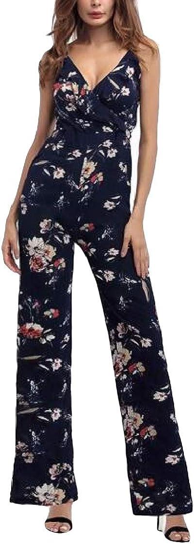 Etecredpow Womens Romper Playsuit Wide Leg Pants Spaghetti Strap Jumpsuit