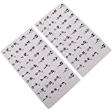 MagiDeal Beginner Learning Tool 54/61 Keys Piano Stave Practice Keyboard Sticker