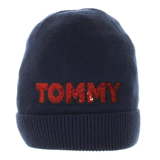 Tommy Hilfiger Patch Knit Mujer Beanie Azul: Amazon.es: Ropa y accesorios