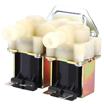 V/álvula solenoide guiada G3 // 4 NC Normalmente cerrado,Interruptor de entrada de agua para lavadora,V/álvula electromagn/ética,Roscas de precisi/ón,Alta presi/ón resistente AC220V unidireccional