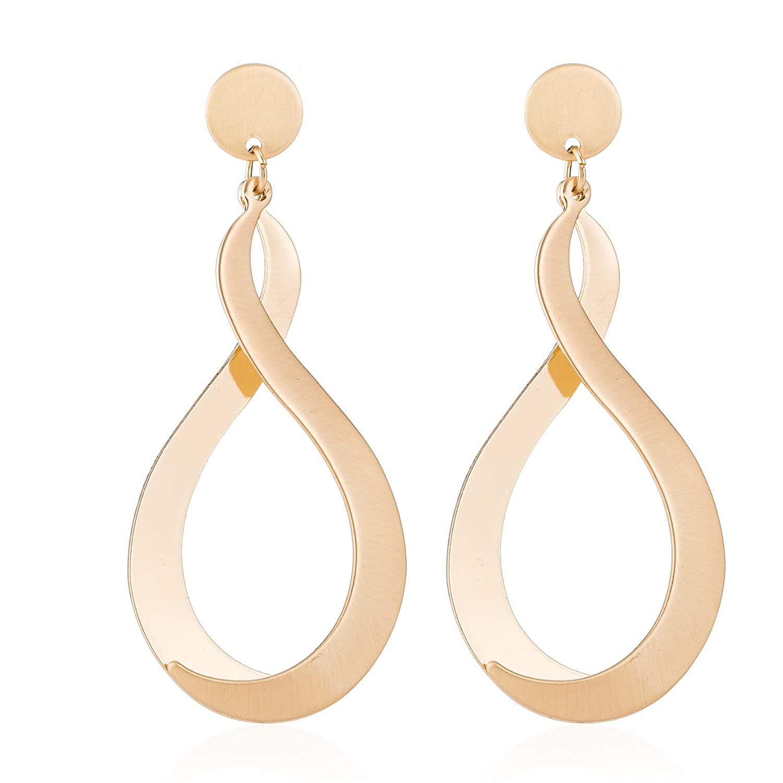 Elegant all gold earrings