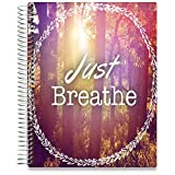 Hardcover Planner with October 2018-2019 Calendar - 15 Month Dated - 8.5 x 11 Thick Paper in Color Print for Daily Weekly & Monthly Day Planning - 15 Tabs & 200 Stickers - by Tools4Wisdom Planners