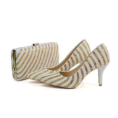 f317c4494d Amazon.com | Sparrow Handmade Pointed Toe Wedding Shoes Bridal Dress ...