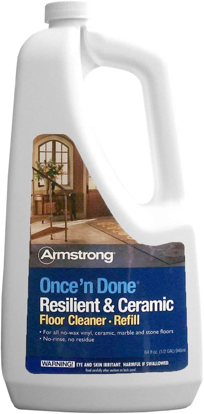 Armstrong S-337 Once'n Done Resilient & Ceramic Cleaner Refill Ready to Use 64 oz