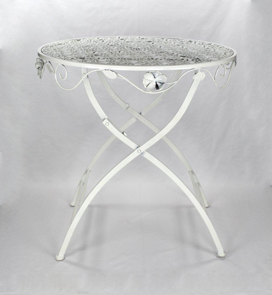 Decoline Decoline Decoline Metall Gartenmöbel weiß Creme Set - Tisch und 2 Stühle 45d92a