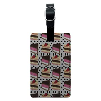 Amazon.com: Tarjeta rectangular de piel con diseño de trozos ...