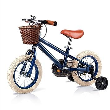 Bicicletas Niños Niño Niña 2-3-6-10 Años De Edad Amortiguador Inflable Rueda Auxiliar Desmontable Color : Black, Size : 16inch(80cm*52cm*115cm): Amazon.es: ...