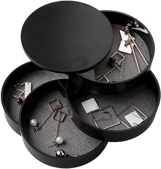Basics Pivoting 3-Tiered Tray Jewelry Storage Organizer White
