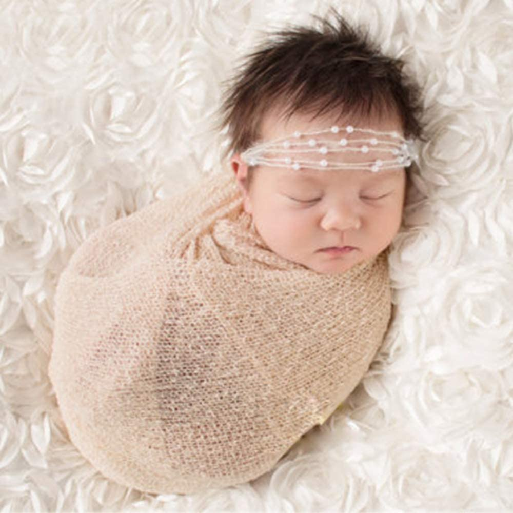 Newborn Baby Lace Wrap Blanket Photography Photo Props Photoshoot Basket Stuffer
