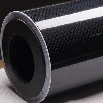 4D Brillo【aire Gratis Vinilo Fibra Carbono】envolvente Con Textura Para Coche /&