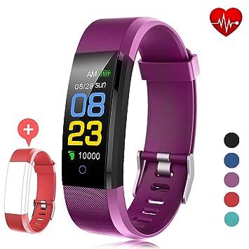 F-FISH Pulsera Actividad Inteligente Pantalla Color Reloj con ...