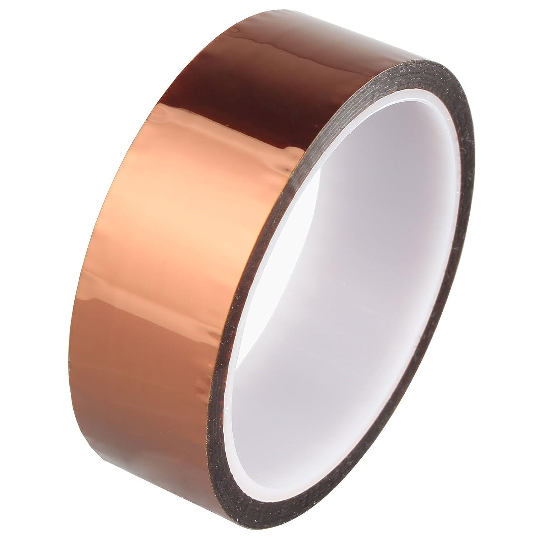 Haljia 30 mm * 33 M/30, 5 m poliimmide calore Resistente alle alte temperature adesivo nastro oro per stampante 3D piattaforma/elettrico Task/saldatura Task/circuiti isolante resistente a temperature fino a 280 'C