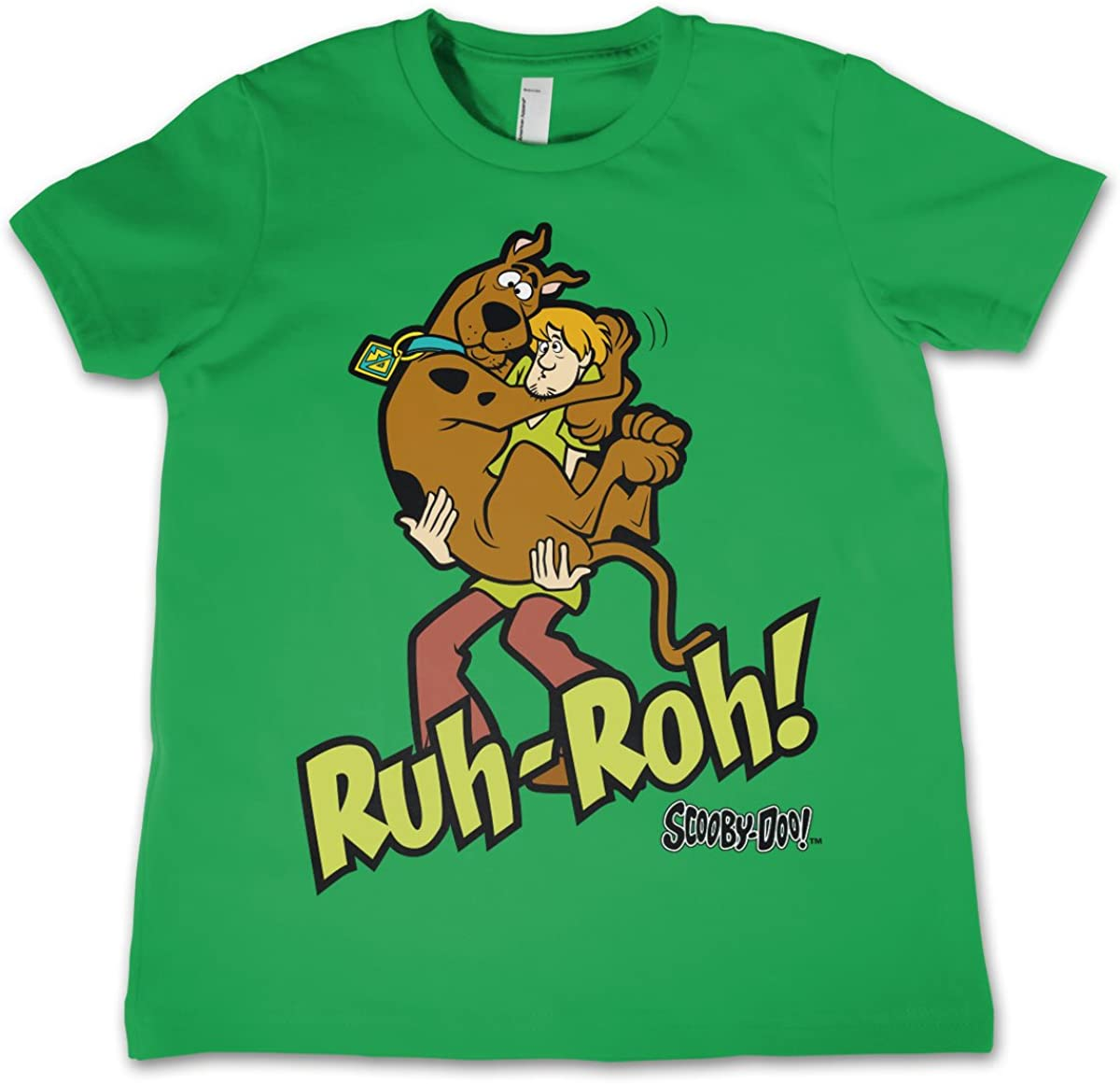 Scooby Doo Licenza Ufficiale Ruh-Ruh Unisex Bambino Maglietta et/à 3-12 Anni