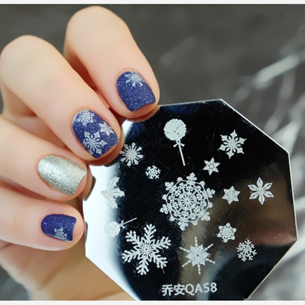 Amazon 1pc Christmas Snowflake Template Stamping Image Plate