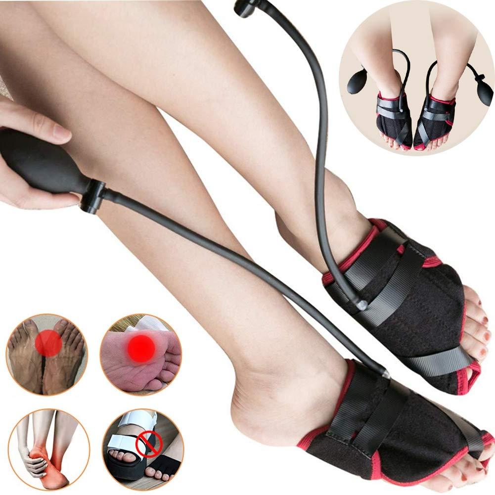 Big Toe Straightener Bunion Corrector Pain Relief Adjustable Pneumatic Brace Unisex Toe Orthopedic Splint for Hallux Valgus Hammer Foot Treat and Prevent,Black,OneSize by PXQ