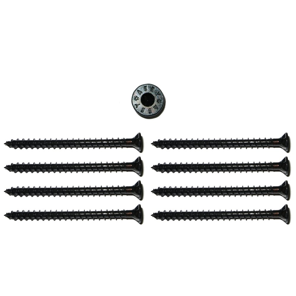 8 vis Assy /à t/ête bomb/ée sp/éciales vis /à Bois 3x20mm Filetage Noir vis asym/étriques pour Haut-Parleur